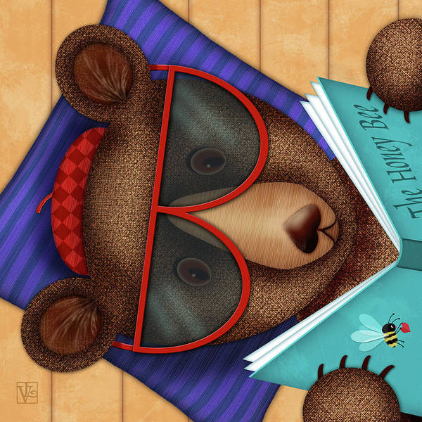Digital Art - B Is For Brown Bear by Valerie Drake Lesiak