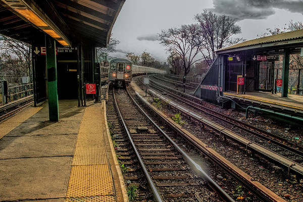 Photograph - B Train At Voorhies by S Paul Sahm