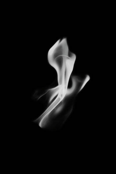 Photograph - B/w Flame 0242 by Wes Jimerson