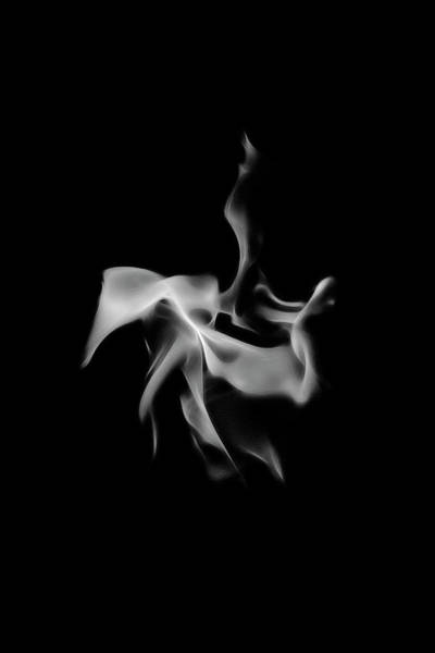 Photograph - B/w Flame 0260 by Wes Jimerson
