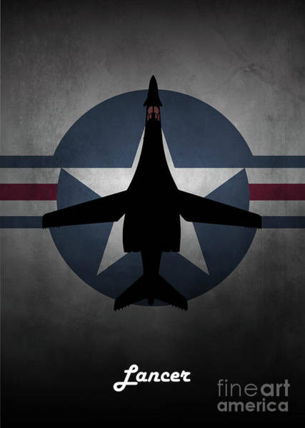Wall Art - Digital Art - B1 Lancer Usaf by J Biggadike