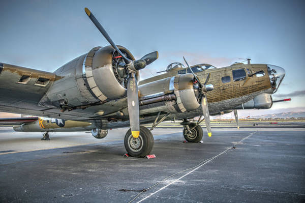 Photograph - B17 Flying Fortress On The Ramp At Livermore by John King