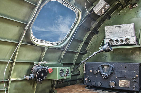 Photograph - B17 Radio Room by Gary Slawsky