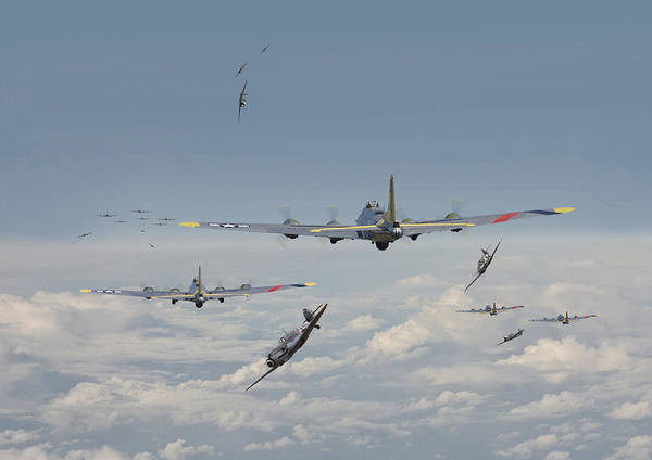 Flying Fortress Photograph - B17 Series - Hard Road Home by Pat Speirs