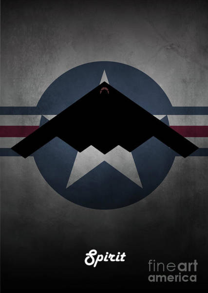 Wall Art - Digital Art - B2 Spirit Usaf by J Biggadike