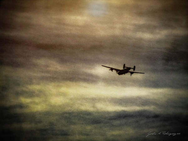 B24 Photograph - B24 In Flight by John A Rodriguez