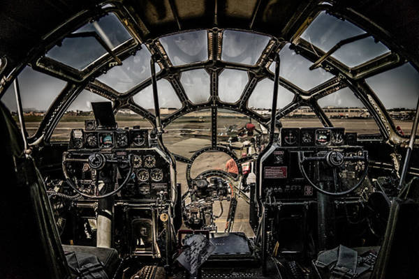Superfortress Photograph - B29 Superfortress Fifi Cockpit View by Chris Lord