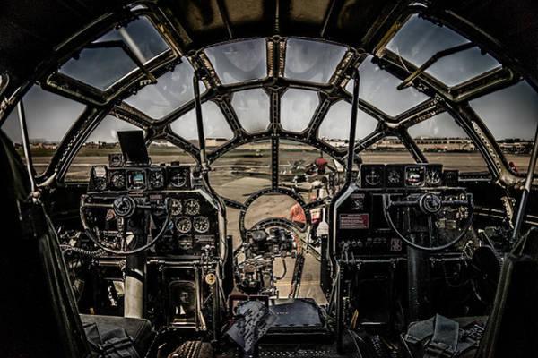 B29 Superfortress Fifi Cockpit View Art Print