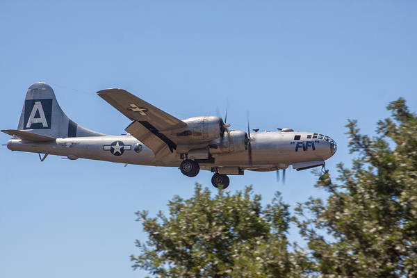 Photograph - B29 Superfortress Short Final At Modesto by John King