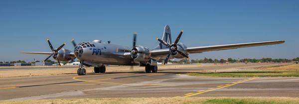 Photograph - B29 Superfortress Taxiing At Modesto by John King