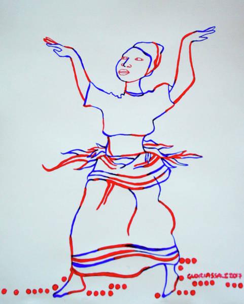 Painting - Baakisiimba  Kiganda Dance - Uganda by Gloria Ssali