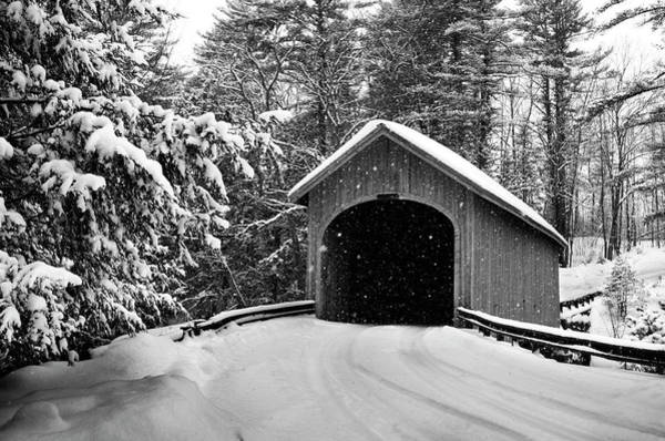 Covered Bridge Photograph - Babbs Bridge by Dan Jordan