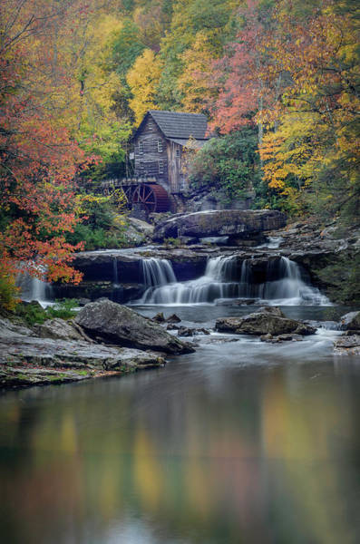 Babcock Grist Mill 2 Art Print by Michael Donahue