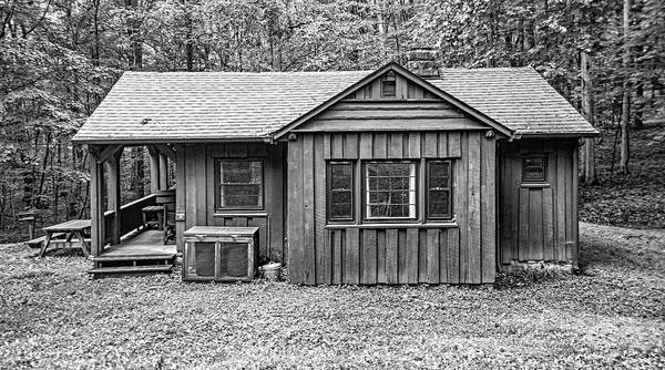 Civilian Conservation Corps Wall Art - Photograph - Babcock State Park Cabin 20 Bw by Steve Harrington