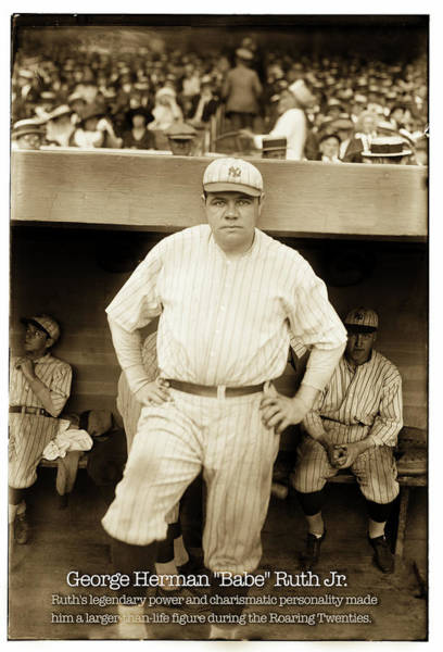 Photograph - Babe Ruth by Carlos Diaz
