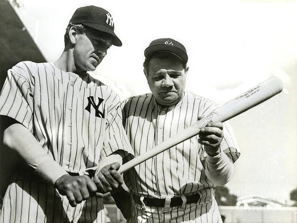 Babe Photograph - Babe Ruth And Lou Gehrig by Jon Neidert