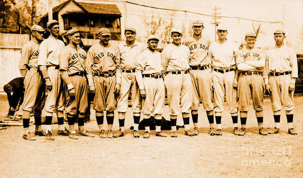 National Baseball Hall Of Fame Photograph - Babe Ruth And The Boston Red Sox 1915 by Peter Ogden Gallery