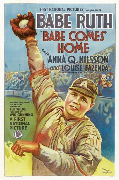 Babe Drawing - Babe Ruth Comes Home 1927 by Mountain Dreams