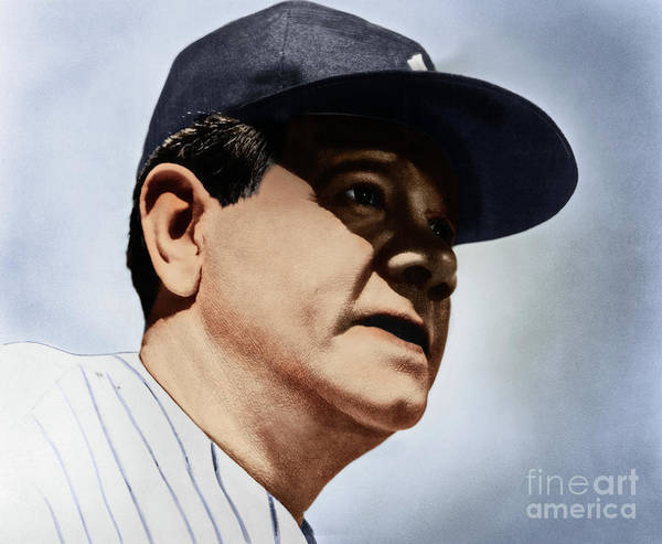 Photograph - Babe Ruth by Granger