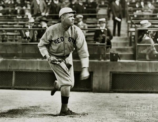 Wall Art - Photograph - Babe Ruth Pitching by Jon Neidert