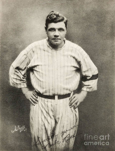 Wall Art - Photograph - Babe Ruth Portrait by Jon Neidert
