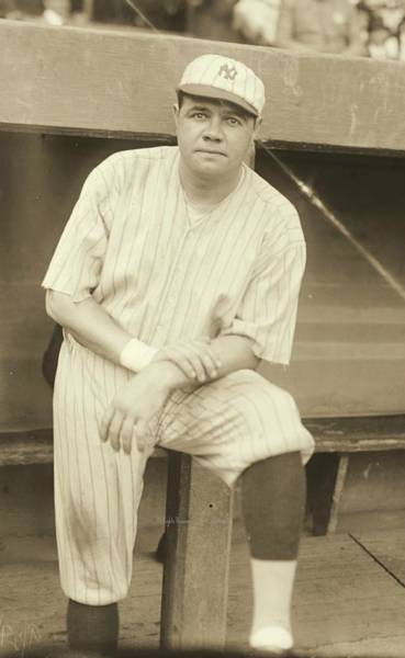 Babe Photograph - Babe Ruth Posing by Padre Art