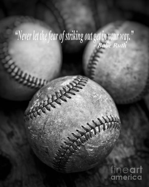 Wall Art - Photograph - Babe Ruth Quote by Edward Fielding