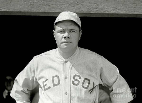 Babe Photograph - Babe Ruth Red Sox by Jon Neidert