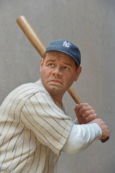 National Baseball Hall Of Fame Photograph - Babe Ruth Statue by Mike Martin