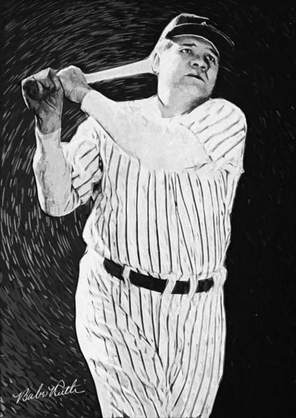 Digital Art - Babe Ruth by Zapista Zapista