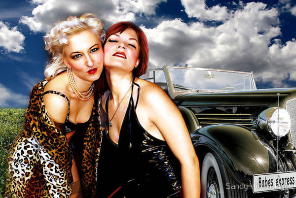 Wall Art - Photograph - Babes Express by The Hybryds