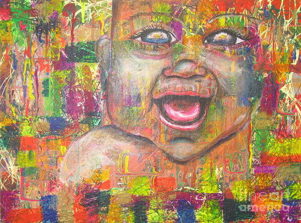 Painting - Baby - 1 by Jacqueline Athmann