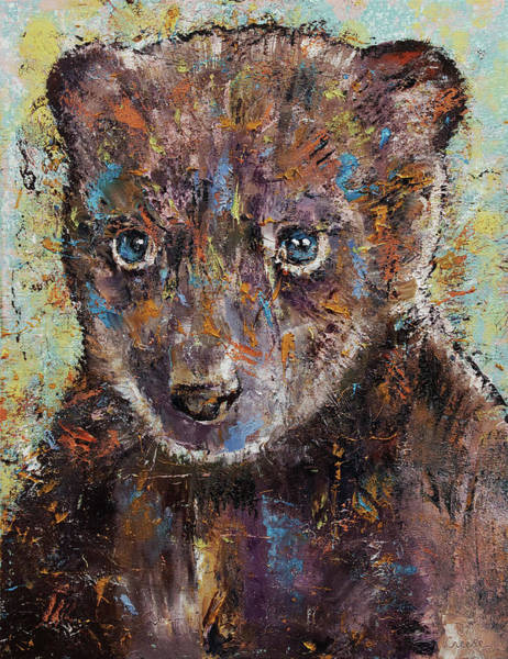 Wall Art - Painting - Baby Bear by Michael Creese