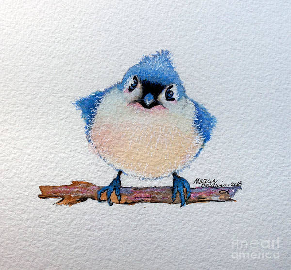 Painting - Baby Bluebird by Marcia Baldwin