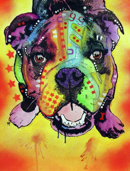 Wall Art - Painting - Baby Bulldog by Dean Russo Art