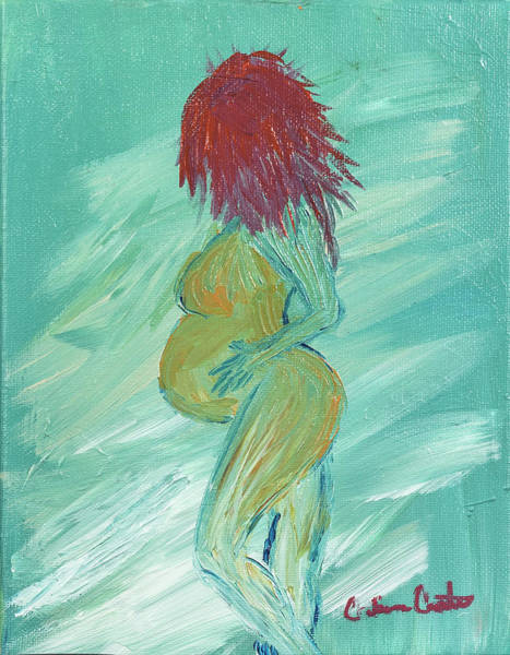 Gestation Painting - Baby Bump by Catrina Carter