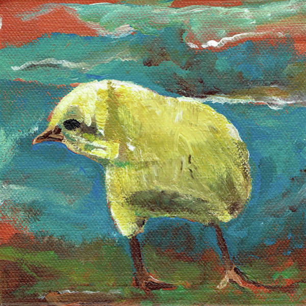Painting - Baby Chick - Little Chicken by Jan Dappen