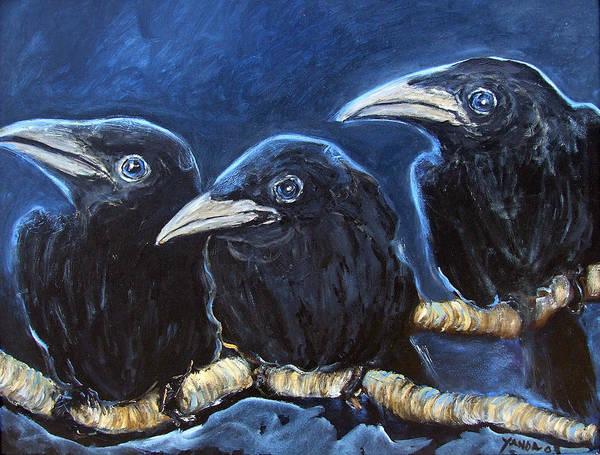Painting - Baby Crows by Katt Yanda