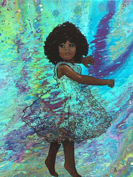 Painting - Baby Dancer Remix  by Karen Buford