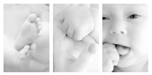 Young Boy Photograph - Baby Details by Jaroslaw Grudzinski