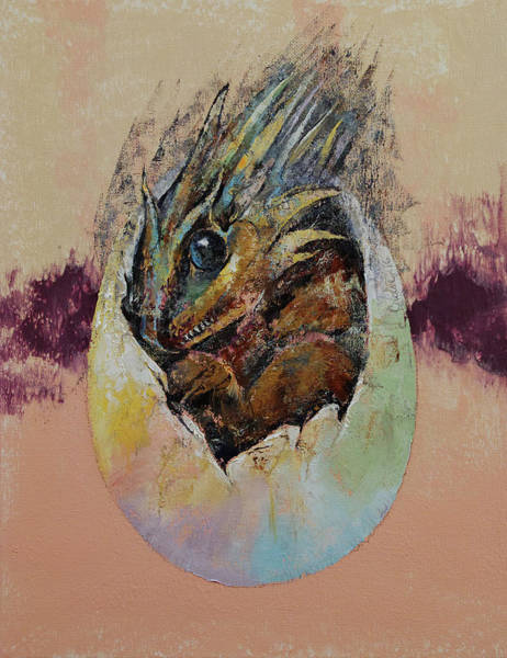 Wall Art - Painting - Baby Dragon by Michael Creese
