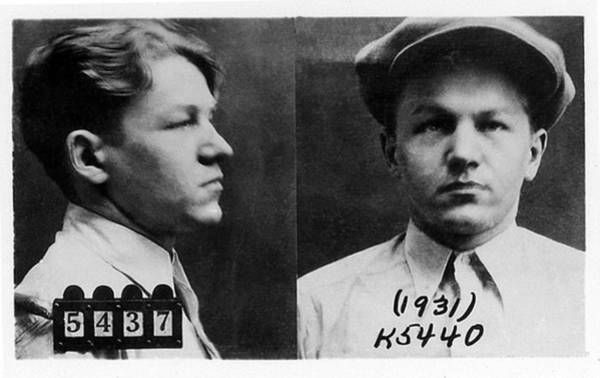 Robbers Photograph - Baby Face Nelson 1908-1934, Bank Robber by Everett