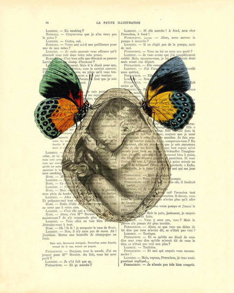 Wall Art - Digital Art - Baby Foetus And Butterflies by Madame Memento