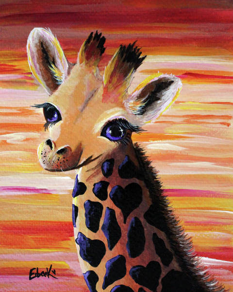 Wall Art - Painting - Baby Giraffe by Erback Art