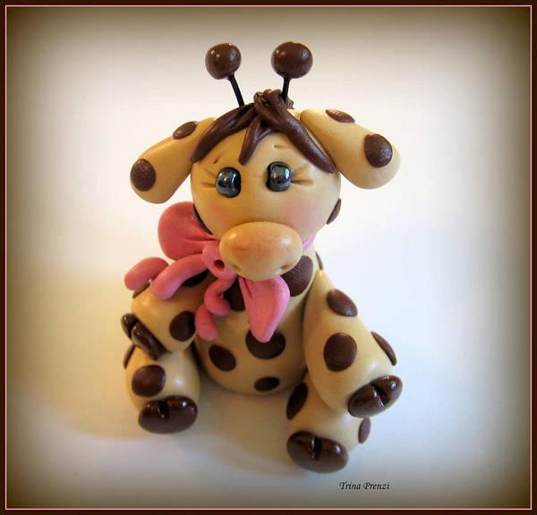 Polymer Clay Photograph - Baby Giraffe by Trina Prenzi