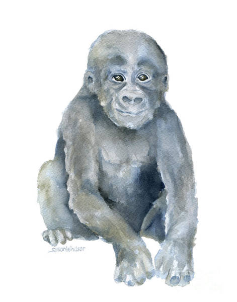Baby Gorilla Painting - Baby Gorilla by Susan Windsor
