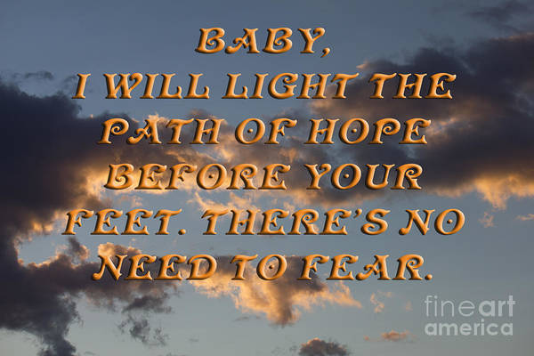 Photograph - Baby I Will Light Your Path by Donna L Munro