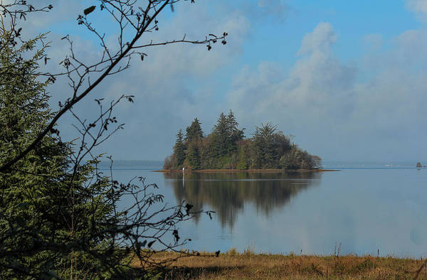 Photograph - Baby Island In Willapa Bay by E Faithe Lester