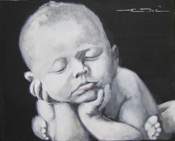 Painting - Baby Nap by Eric Dee