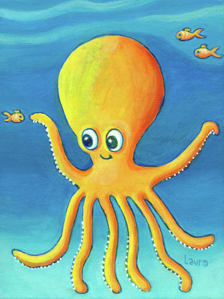 Wall Art - Painting - Baby Octopus And Friends by Laura Zoellner